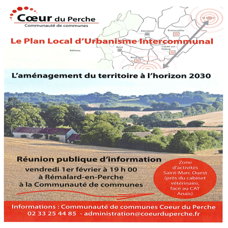 PLUI – Réunion publique d'information