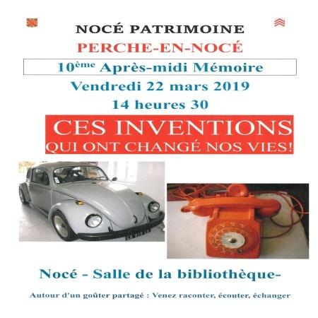 Après-midi mémoire organisée par Nocé Patrimoine