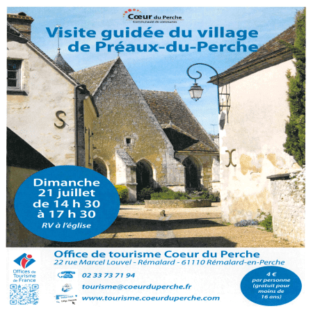 Visite guidée du village de Préaux-du-Perche