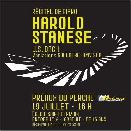 Récital de piano Harold STANESE
