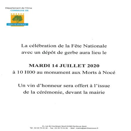 Célébration de la Fête Nationale