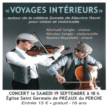 """Concert """"Voyages intérieurs"""""""