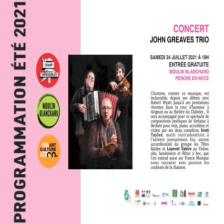 Concert John Greaves Trio