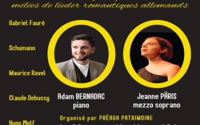 Concert à 16h30 organisé par Préaux Patrimoine réservation au 06 85 62 18 29